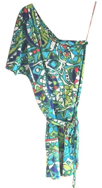 Item - Green and Blue Pattern Cover-up/Sarong Size 0 (XS)