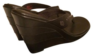 Harley Davidson Black Sandals