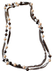 Other Classic black and white necklace with 2 bracelets