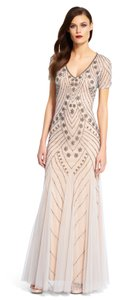 Adrianna Papell Beaded Mesh Mermaid Dress