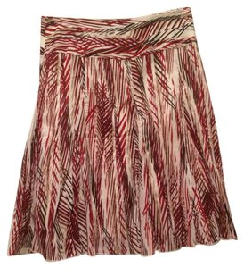 Apt. 9 Skirt Cream, red, maroon