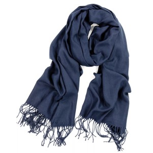 Cashmere Pashmina Group Navy* Cashmere Wool Scarf