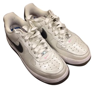 Womens Air Force 1 White/Met Pewter-Perfect Pink Athletic
