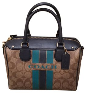Coach Satchel in Khaki/Midnight