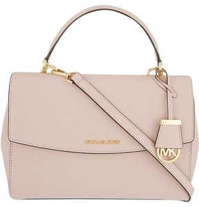 Michael Kors Leather Satchel in Light pink/ Blush