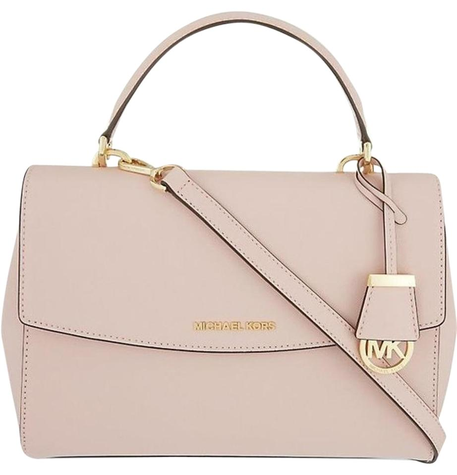 d215beaf948a14 Michael Kors Ava Medium Saffiano Light Pink/ Blush Leather Satchel ...