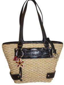 Brighton Nwot Woven Wicker Large Lined Hobo Bag