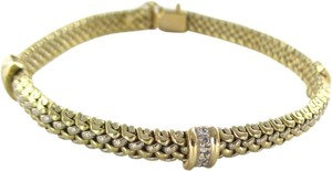 14K SOLID YELLOW GOLD BRACELET BANGLE 18 DIAMONDS .36 CARAT 19.5 GRAMS JEWELRY
