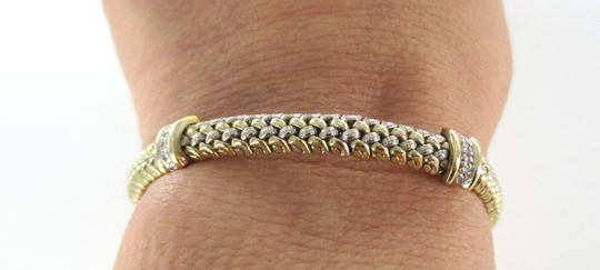 Other 14K SOLID YELLOW GOLD BRACELET BANGLE 18 DIAMONDS .36 CARAT 19.5 GRAMS JEWELRY