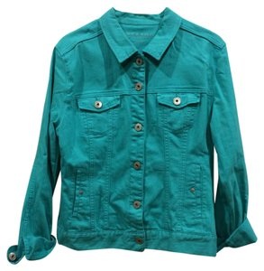 Liverpool Jeans Company teal green Womens Jean Jacket