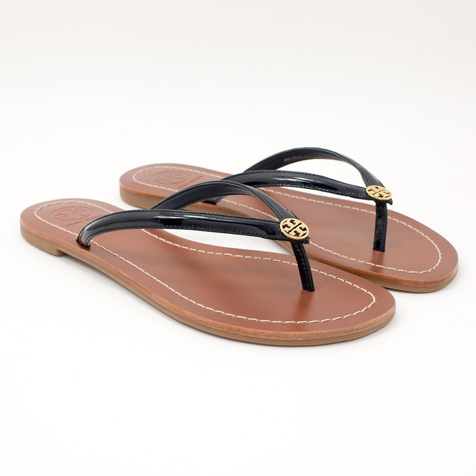 d4b1aacec Tory Burch Bright Navy Terra Thong W Dustbag Sandals Size US 6 ...