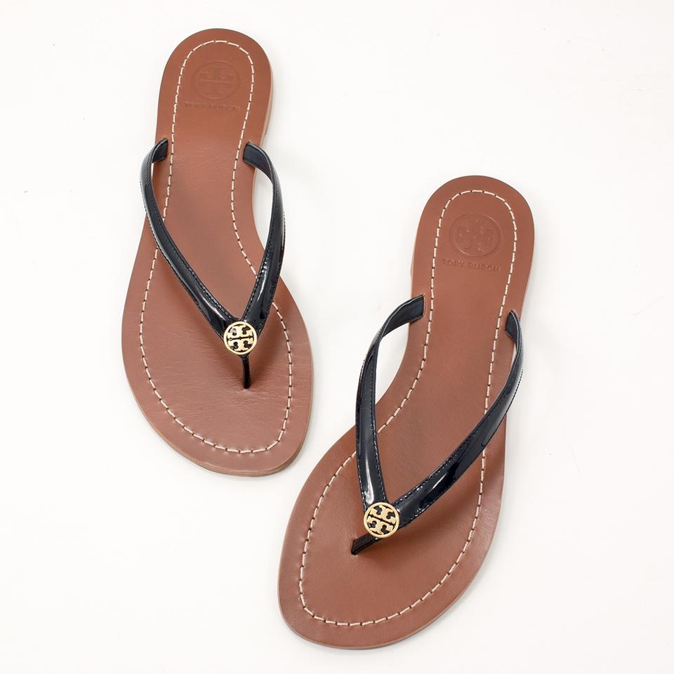 68392d9f37c13 Tory Burch Bright Navy Terra Thong W Dustbag Sandals Size US 6 ...