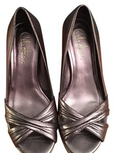 Cole Haan Pewter Wedges