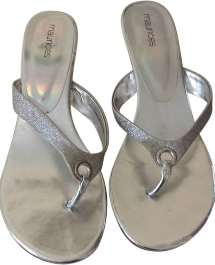 Maurices Silver Sandals