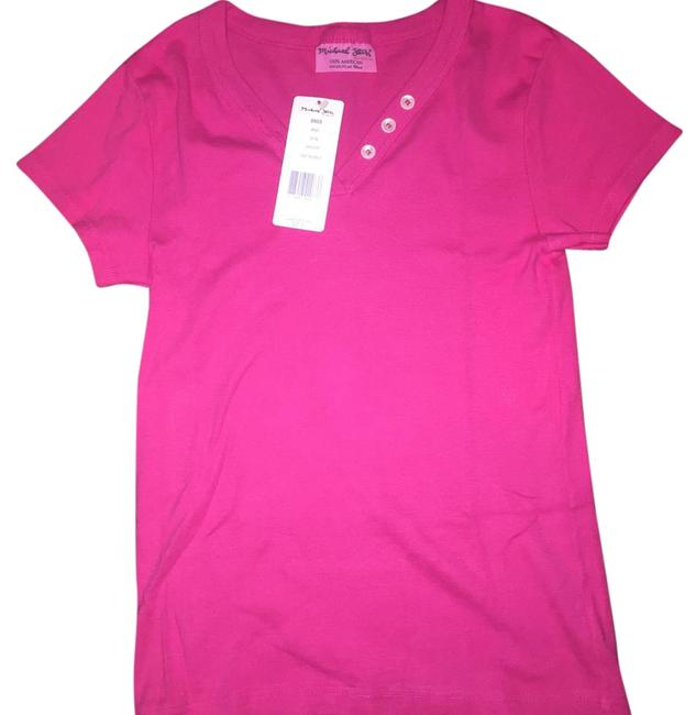 Michael stars pink tee shirt size os one size tradesy for Michael stars tee shirts