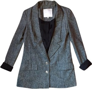 Walter Baker Tweed 2 Button Grey Blazer