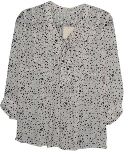 Boden Top white/navy