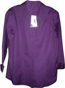 Chico's Brand New Button Down Shirt Purple