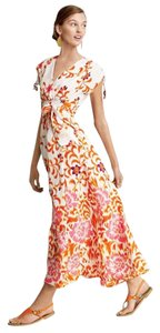 Multi Maxi Dress by Neiman Marcus Maxi Floral V-neck Fall