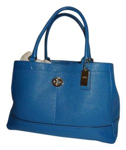 Coach New With Tags Retail Collection Denim Satchel in Blue
