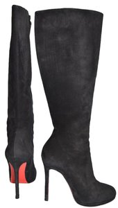 Christian Louboutin Heel Platform Tall Knee High black Boots