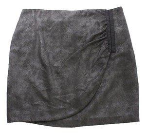 DKNY Jeans Donna Karan Tulip Skirt BLACK/ GRAY