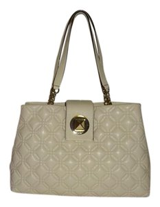 Kate Spade Quilted Leather New With Tags Off White Shoulder Bag