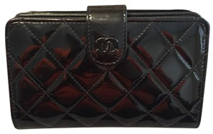 Chanel Quilted Patent Learher Wallet