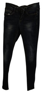 Zara Medium Wash Denim Skinny Skinny Jeans-Medium Wash