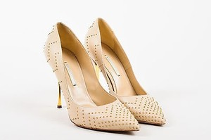 Nicholas Kirkwood Gold Cream Pumps