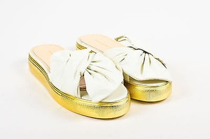 Charlotte Olympia White Gold Sandals
