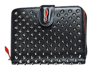 Christian Louboutin Christian Louboutin Leather Panettone Zip Vertical Compact Wallet