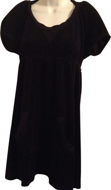 Item - Black Terry Cloth Dress Cover-up/Sarong Size 10 (M)
