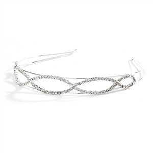 Penelope Unique Open Braid Rhinestone Headband Tiara