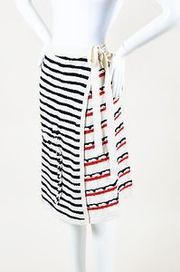 Barrie Pace Red White Blue Skirt Multi-Color