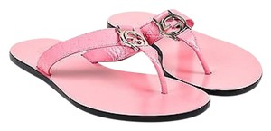 Gucci Glossy Leather Pink Sandals