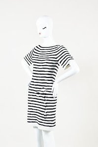 Barrie Pace short dress Blue Cream Navy Cashmere on Tradesy