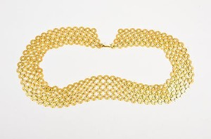Vintage Gold Tone Disc Ring Chainmail Belt