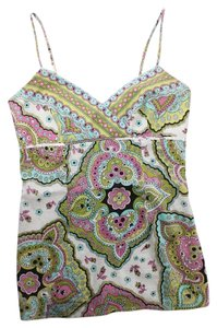Laundry by Shelli Segal Pink Green Top Multi-Color
