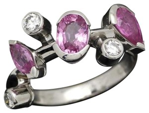 Cartier Cartier Meli Melo Pink Sapphire Diamond Cluster Platinum Cocktail Ring
