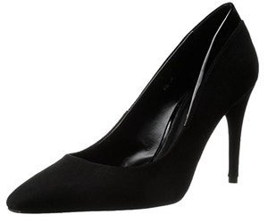 Delman Suede Leather Patent Black Pumps