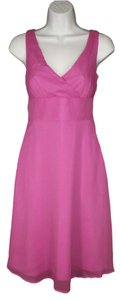 J.Crew Silk Chiffon Pink Dress