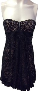 MARCIANO GUESS Designer Dress Size Medium M 8 10 Sundress Formal Black Lace Dress