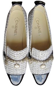 Chanel Women Loafers White Flats