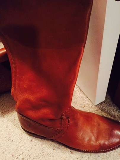 Frye Leather Cognac brown Boots