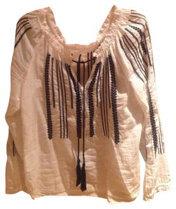 Lucky Brand Top White and navy