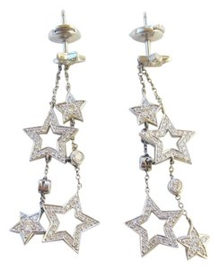 Tiffany & Co. Tiffany & Co. Multi Star Drop Earrings in Platinum and Diamonds