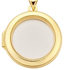 14k gold and glass locket pendant 14k Gold And Floating Glass Locket Pendsnt