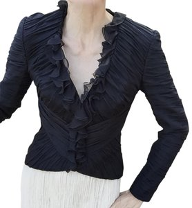 Escada Ruffle black Jacket
