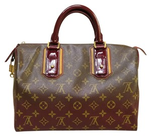 Louis Vuitton Lv Mirage Limited Canvas Tote in Burgundy&monogram
